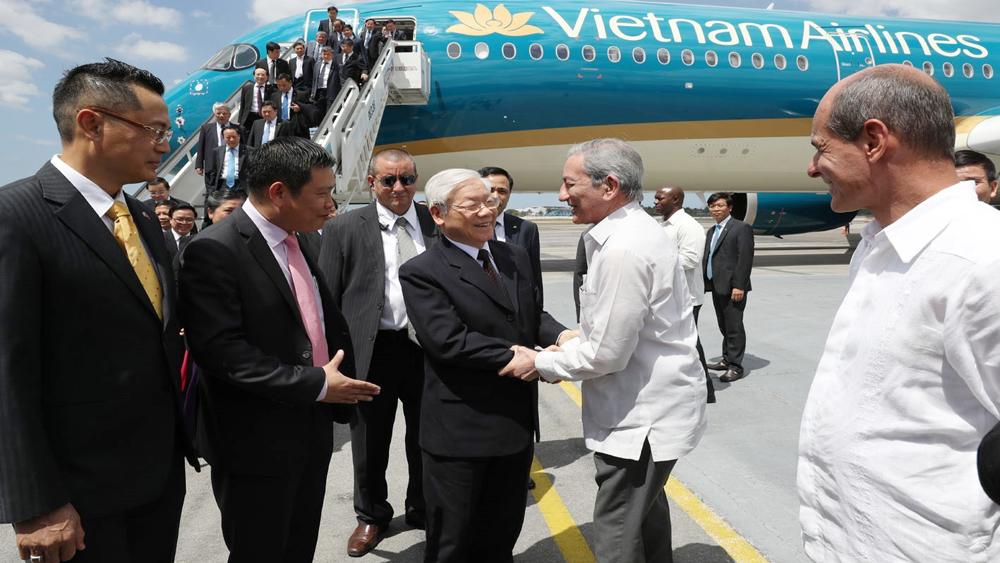 Tổng Bí thư Nguyễn Phú Trọng bắt đầu thăm cấp Nhà nước Cộng hòa Cuba